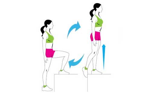 Step Up Exercise Stool Women