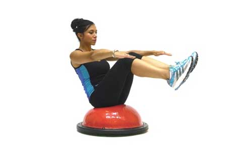 V Sit With Balance Trainer Exercise